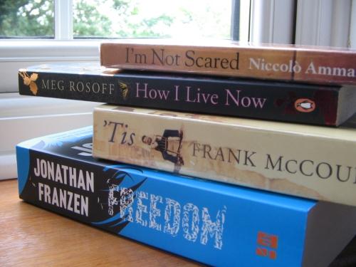 Even more spine poetry