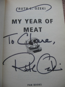 Signed Ruth Ozeki book