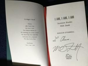 Maggie O'Farrell signed copy I Am, I Am, I Am