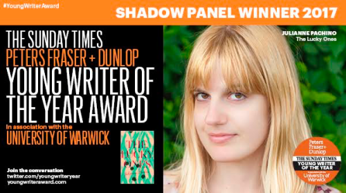 Young Writer of the Year Award Shadow Panel Winner