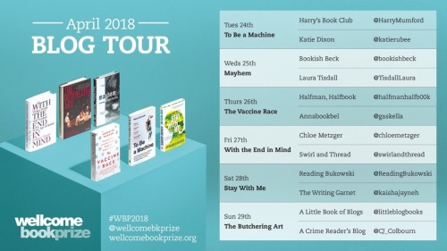 Wellcome Book Prize Blog Tour 2018